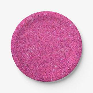Rosa Glitter Pappteller