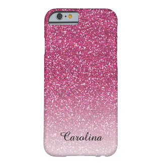 Rosa Glitter, personalisierter iPhone 6 Fall Barely There iPhone 6 Hülle