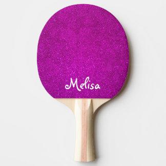 Rosa Glitter Ping pong Paddel für tabletennis Tischtennis Schläger