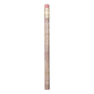 Rosa Glitter-Rosen-Goldschein-Imitat Bleistift