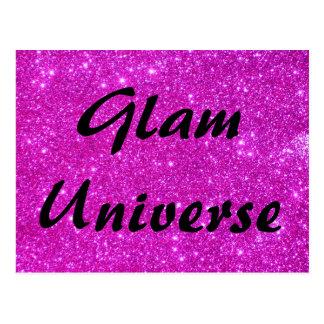 Rosa Glitter-Schein-kundengerechter Entwurf Postkarte