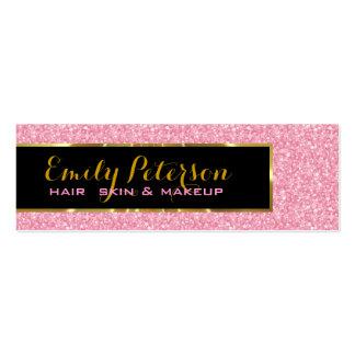 Rosa Glitter und metallische Goldakzente Visitenkarte