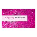 Rosa Glitterbeautician-Geschäfts-Karte Visitenkarte