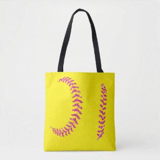 Rosa Glittersoftball-Stiche Tasche