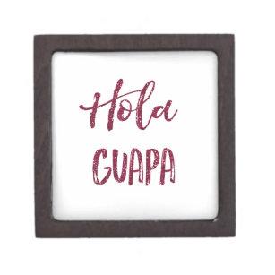 Rosa Glitzer Hola Guapa Kiste
