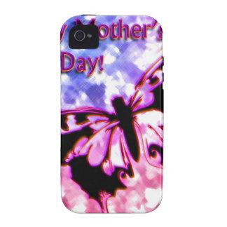 Rosa glücklicher Entwurf der Mutter Tages iPhone 4 Hüllen