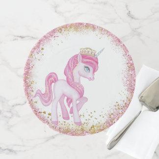 Rosa GoldEinhorn-Prinzessin Cake Stand Tortenplatte
