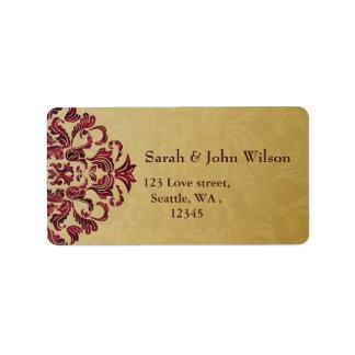 rosa Goldeleganz-Rücksendeadresseaufkleber Adress Aufkleber