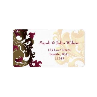 rosa Goldeleganz-Rücksendeadresseaufkleber Adressaufkleber