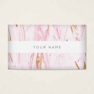 Rosa Goldweißer Marmor Vip abstrakt Visitenkarte