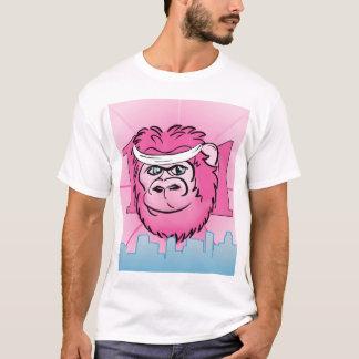 Rosa Gorilla mit Sweatband T-Shirt