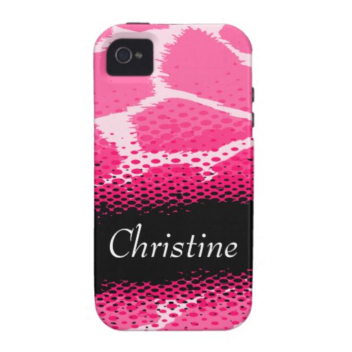 Rosa grafisches Tierdruck iphone starker Fall Vibe iPhone 4 Cover