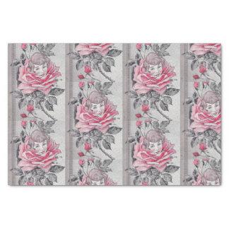 Rosa Grau Rosen-Damen-Seidenpapier-  Seidenpapier