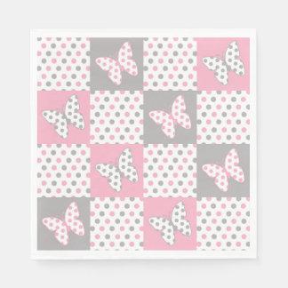 Rosa graue graue servietten
