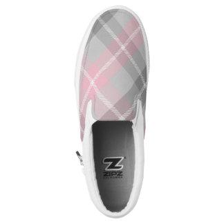 rosa graues und weißes kariertes Slip-On sneaker