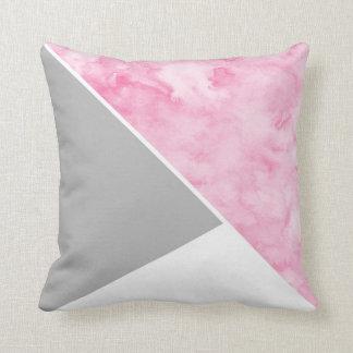 Rosa graues Weiß modern Kissen