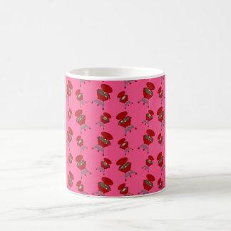 rosa Grillmuster Tasse