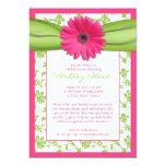 Rosa grüne 12,7 x 17,8 cm einladungskarte