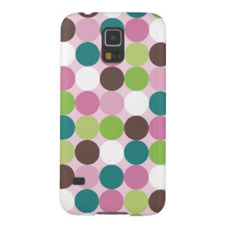 Rosa grüne Tupfen Samsung S5 Hülle