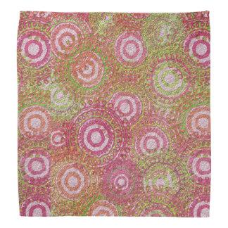 Rosa grünes abstraktes retro halstuch
