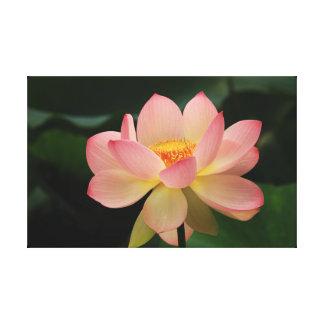 Rosa grünes mit Blumenentspannung tropischer Leinwanddruck