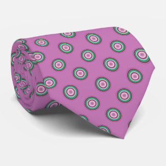 Rosa grünes Tupfen-Muster Krawatte