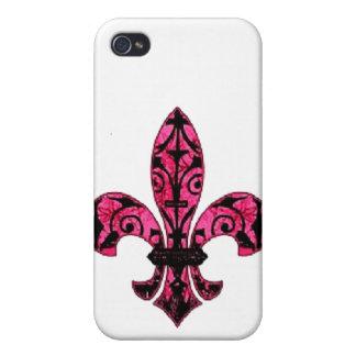 Rosa Grunge-Lilien-Telefon-Kasten Schutzhülle Fürs iPhone 4