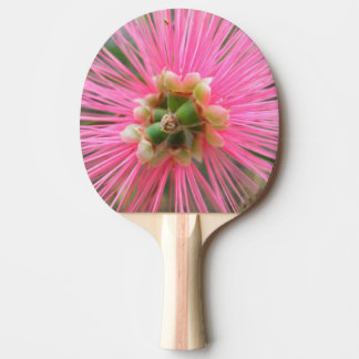Rosa Gummi-Baum-Blume Tischtennis Schläger
