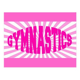 Rosa Gymnastik Postkarte
