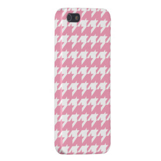 rosa Hahnentrittmuster iPhone 5 Cover