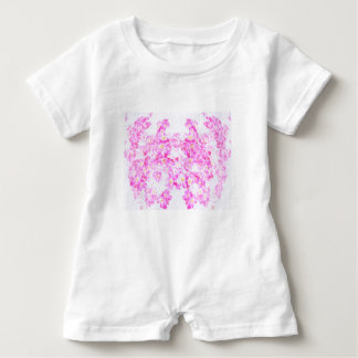 Rosa Hartriegel-Blüte Baby Strampler