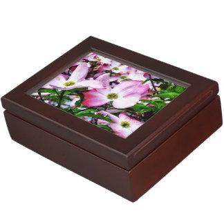 Rosa Hartriegel-Blüten Erinnerungsdose