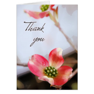 Rosa Hartriegel danken Ihnen zu kardieren Karte