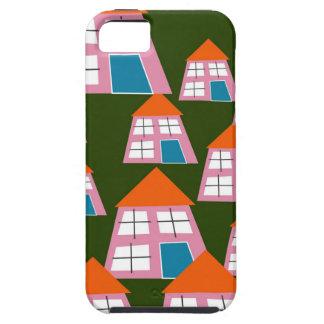 Rosa Häuser iPhone 5 Etui