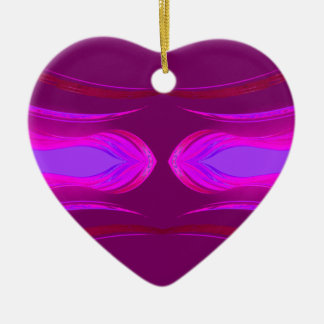 Rosa heißes Rosa-lila Träume CricketDiane Keramik Herz-Ornament