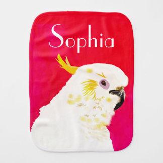 Rosa heller Cockatoo-Vogel genannt Baby Spucktuch