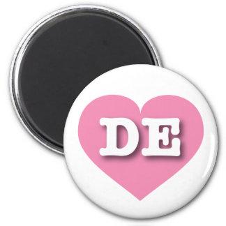 Rosa Herz Delawares - große Liebe Runder Magnet 5,1 Cm