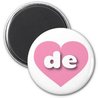 rosa Herz Delawares - MiniLiebe Runder Magnet 5,7 Cm