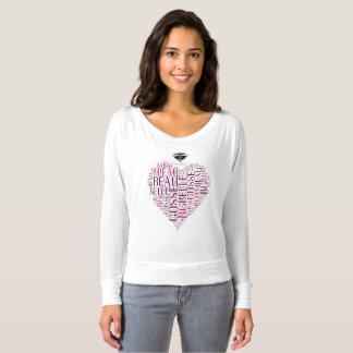 Rosa Herz durch BG Luis für Galane Gosses Marke T-shirt