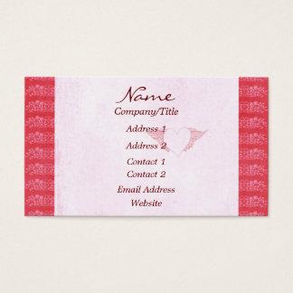 Rosa Herz-elegante Visitenkarte