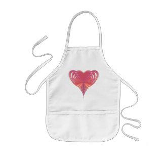 Rosa Herz-Fraktal Kinderschürze