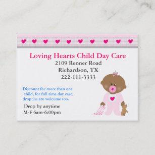 Kinderbetreuung Geschenke Visitenkarten Zazzle De