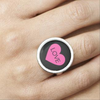 Rosa Herz-Liebe Ring