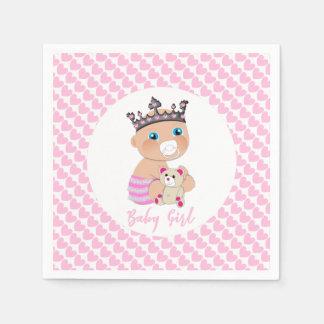 Rosa Herz-niedliche Baby-Prinzessin Shower Serviette