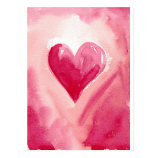 Rosa Herz Postkarten