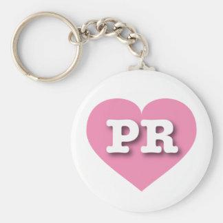 Rosa Herz Puertos Rico - große Liebe Schlüsselanhänger