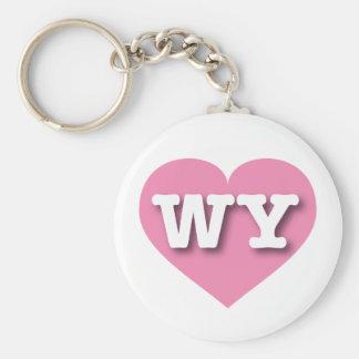 Rosa Herz Wyomings - große Liebe Schlüsselanhänger
