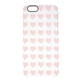 Rosa Herzmuster Durchsichtige iPhone 6/6S Hülle