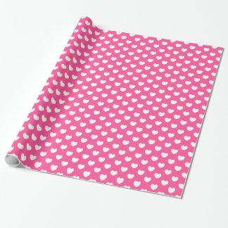 Rosa Herzmuster-Valentinstag-Verpackungspapier Geschenkpapier