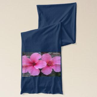 Rosa Hibiskus-Blumen Schal